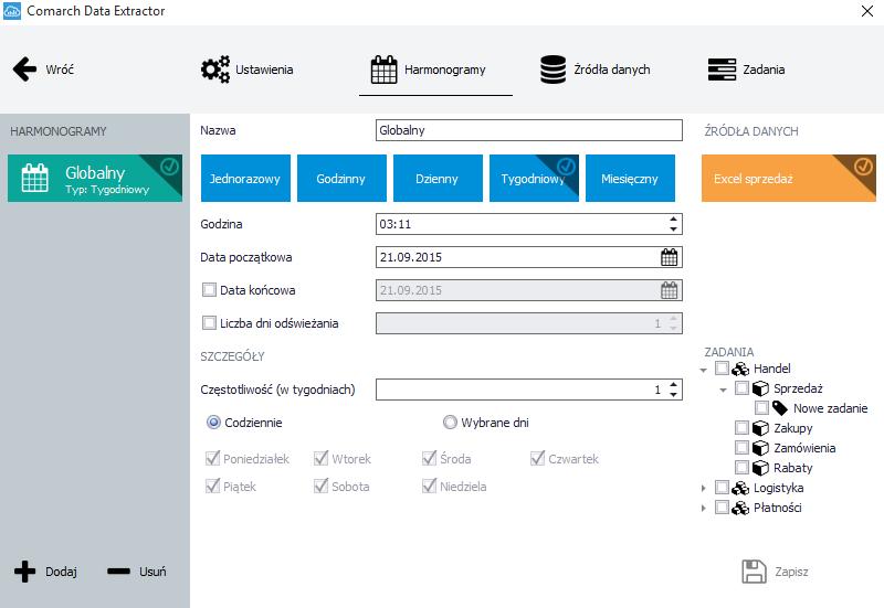 Comarch BI Cloud Data Extractor